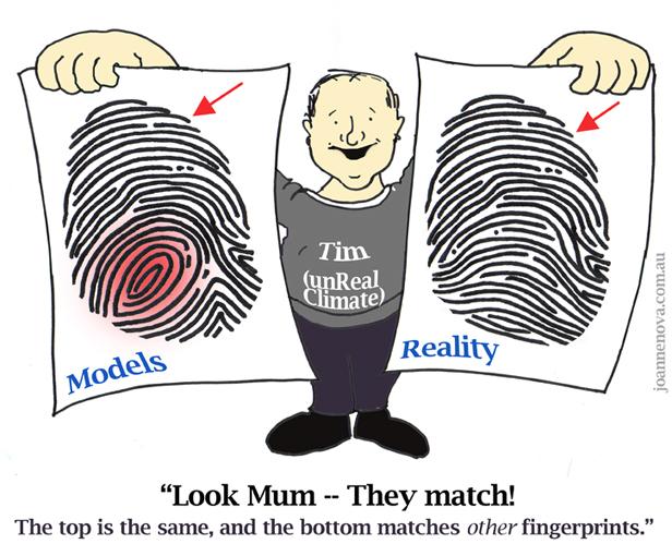 Tim Lambert Missing fingerprints of the hotspot don't match models