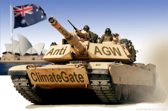 Image: ClimateGate Tank arrives in Australia