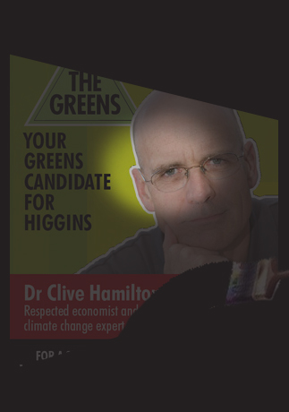 Image: Clive is DARK green.