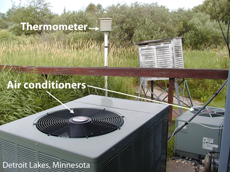 Detroit Lakes surface station with airconditioning outlets.