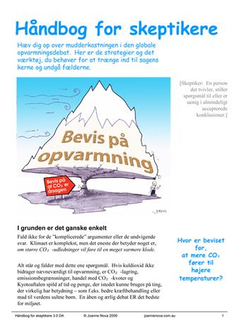 The Danish translation of The Skeptics Handbook