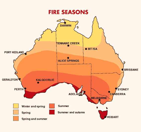 Fires Seasons of Australia, NSW Spring fires.