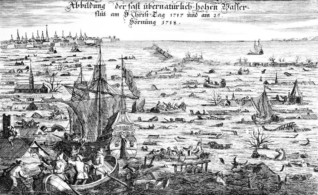 1717 Christmas Flood, Germany, Netherlands.