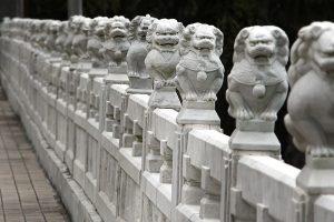 China lion statues, Taiwan.