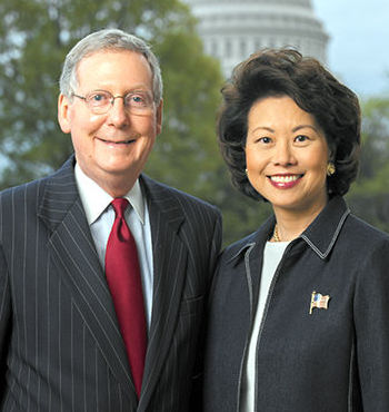 Mitch McConnell and his wife Elaine Chao