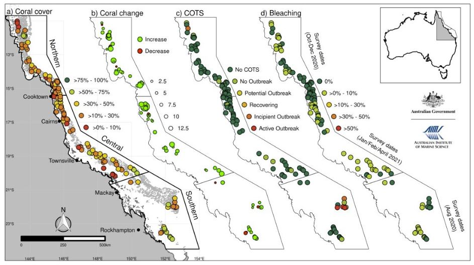 Australian Institute of Marine Science 2021 Report, Great Barrier Reef