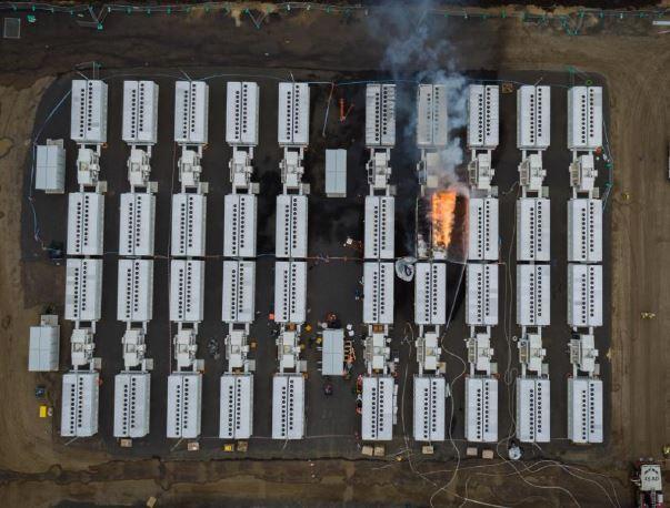 Tesla Battery Fire, Geelong, Victoria.