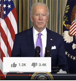 Joe Biden, Whitehouse video