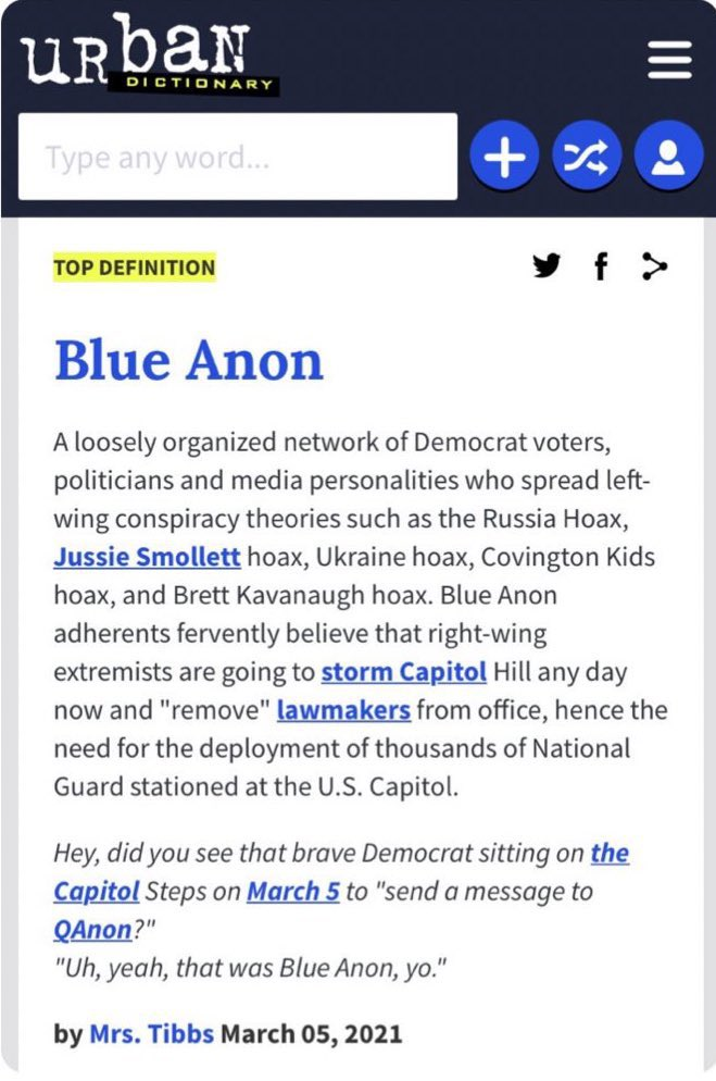BlueAnon definition