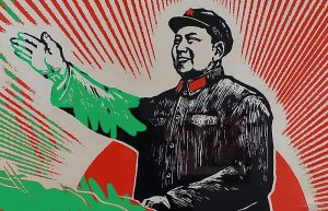 Green paint for Chairman Mao