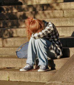 Sad Uni student depression photo.