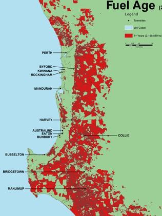 Fuel Age of WA forests, fire risk.