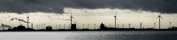 Photo German wind turbines, Emben. Emden, Germany by Gritte