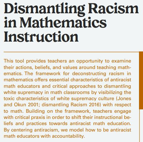 Dismantling racism in Maths
