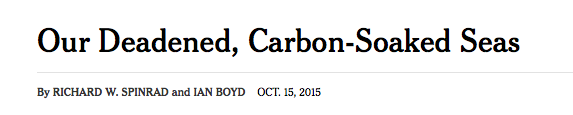 NY Times, ocean acidification, headline