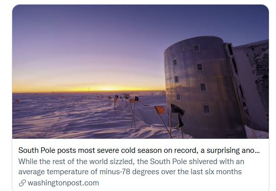 South Pole Sunrise from the coldest winter ever.