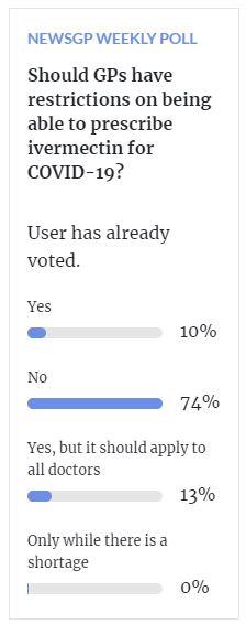 RACGP survey poll Ivermectin