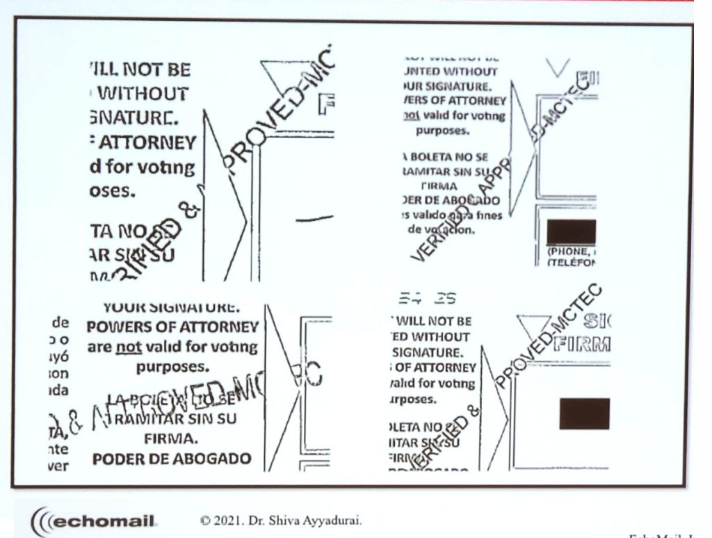 """US election ballot papers printed """"pre approved"""""""