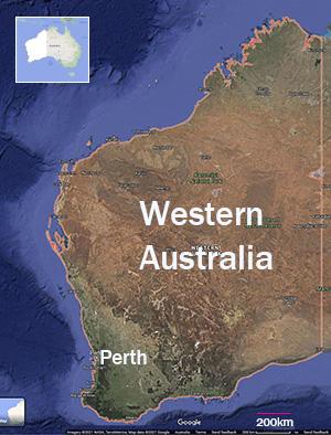 Western Australia, Map.