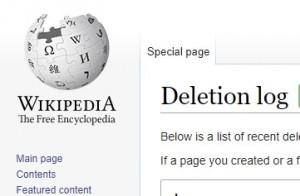 Wikipedia Deletion Log