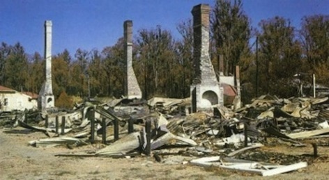 Bushfire, Dwellingup, South West, Western Australia, damage.