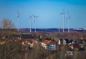 Windpower plant Germany.